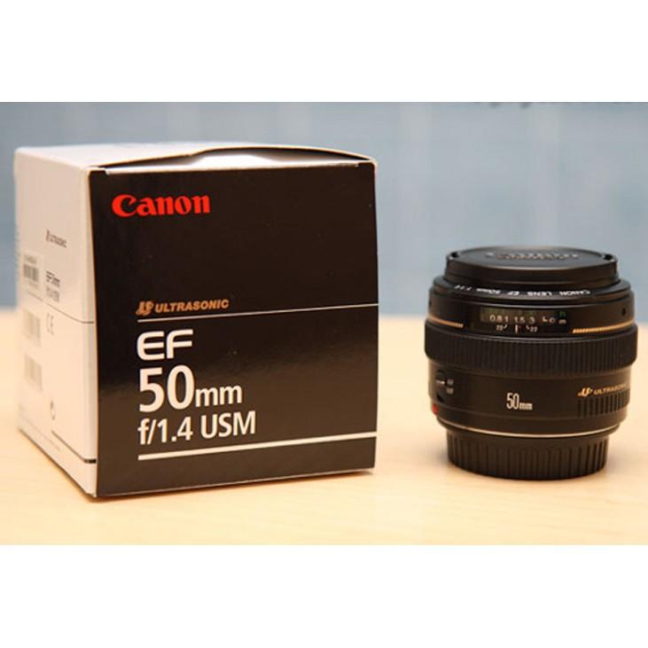 Ống kính Canon 50mm f1.4 USM tặng loa che nắng
