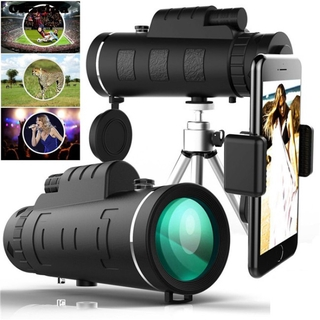 cell phone 40×60 Portable HD Optical Monocular Telescope Day/Night Vision+Phone Clip+Tripod