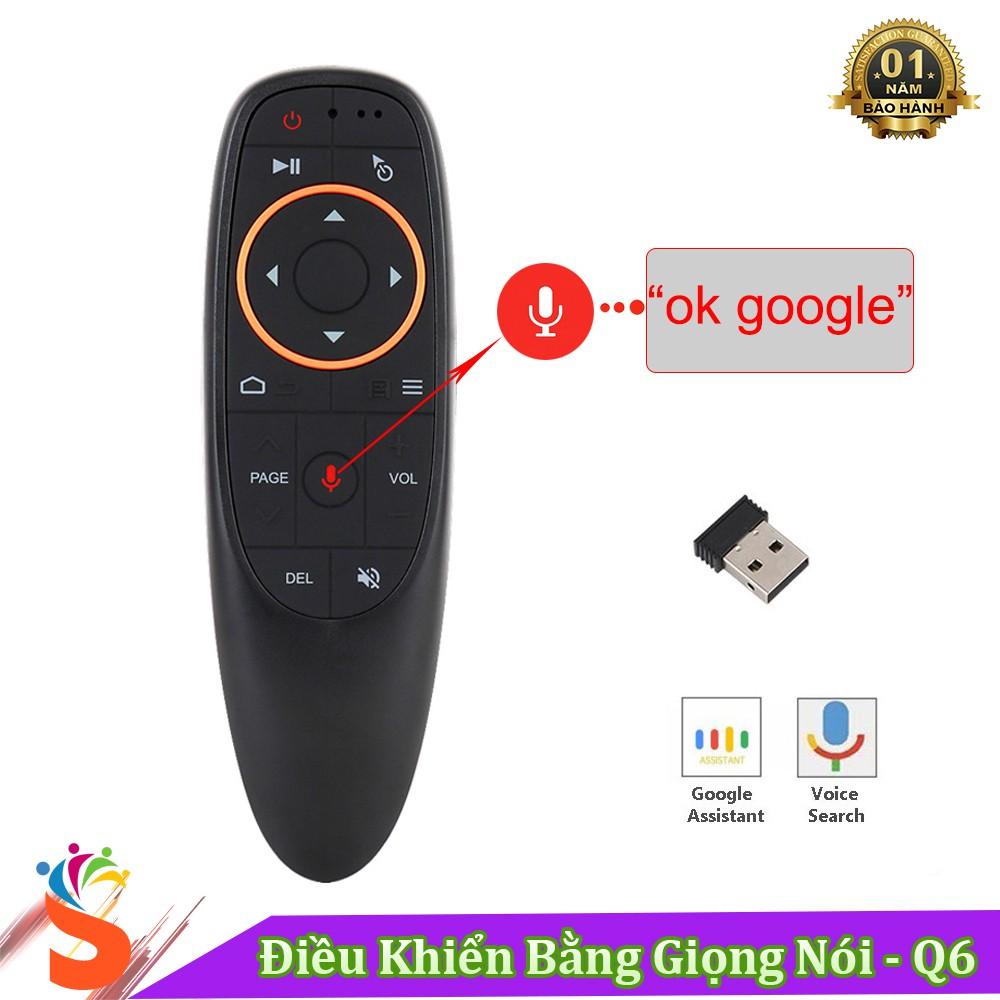 Điều Khiển Tìm Kiếm Giọng Nói Q6 - ( Hỗ Trợ Cho Smart Tivi , Android Tivi Box ... ) - Bảo Hành 1 Năm