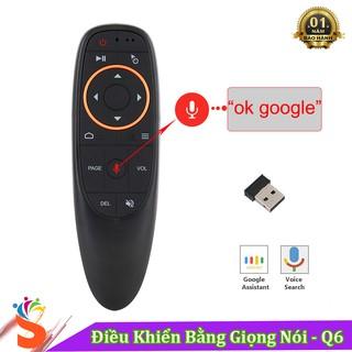 [Siêu rẻ] Điều Khiển Tìm Kiếm Giọng Nói G10S - Q6 Hỗ Trợ Cho Smart Tivi , Android Tivi Box ... ) - Bảo Hành 1 Năm