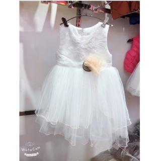 Váy công chúa hoa đính eo size nhỡ(15-25kg)