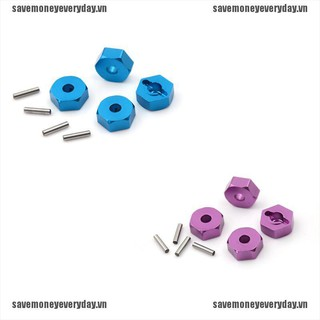 [Save] 4pcs Aluminum Wheel Hex Nut 12MM With Pins Drive Hubs HSP 1/10 Upgrade Parts [VN]