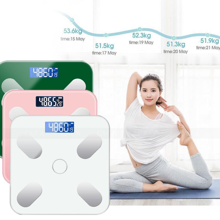 Cân điện tử sức khỏe, cân sức khỏe sạc pin USB, cân chính xác, màn hình LCD hiển thị nhiệt độ, tải trọng 180 Kg