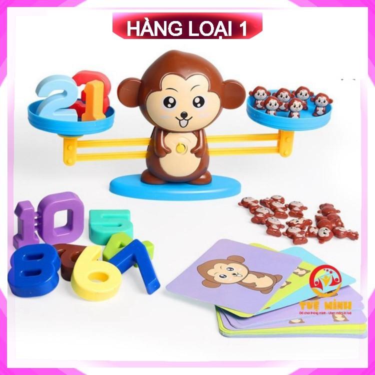 [FreeShip – Chính Hãng] Bộ Đồ Chơi trí tuệ Khỉ Toán Học Cân Bằng Thông Minh Monkey Balance Cho Bé Học Số Đếm