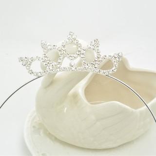 Vương miện công chúa đính kim cương giả thời trang sang trọng cho bé gái