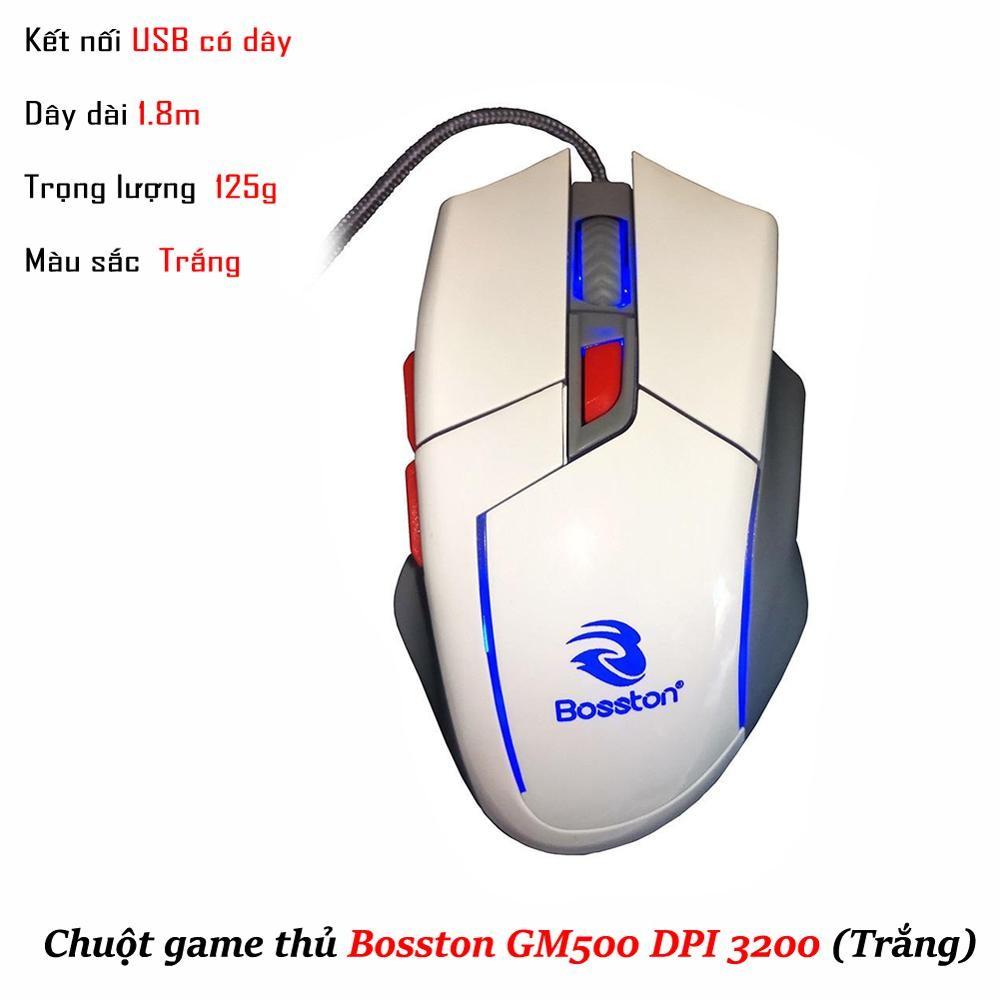 Chuột Chuyên Game Bosston GM500 LED 7 Màu Tự Chuyển - 2514258 , 1260924449 , 322_1260924449 , 139000 , Chuot-Chuyen-Game-Bosston-GM500-LED-7-Mau-Tu-Chuyen-322_1260924449 , shopee.vn , Chuột Chuyên Game Bosston GM500 LED 7 Màu Tự Chuyển