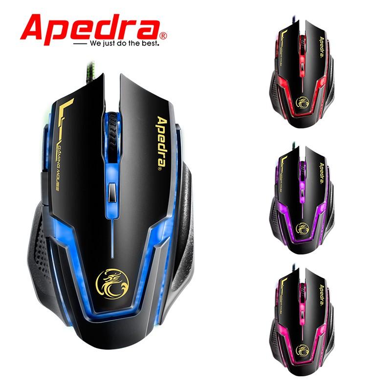 Mouse Gaming APEDRA A9 Dây dù - Led 7 màu