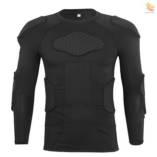 outsideworld Men Padded Compression Shirt Multiple Pad Protective Gear for Football Baseball Soccer Basketball Volleyball Training Bike Ski