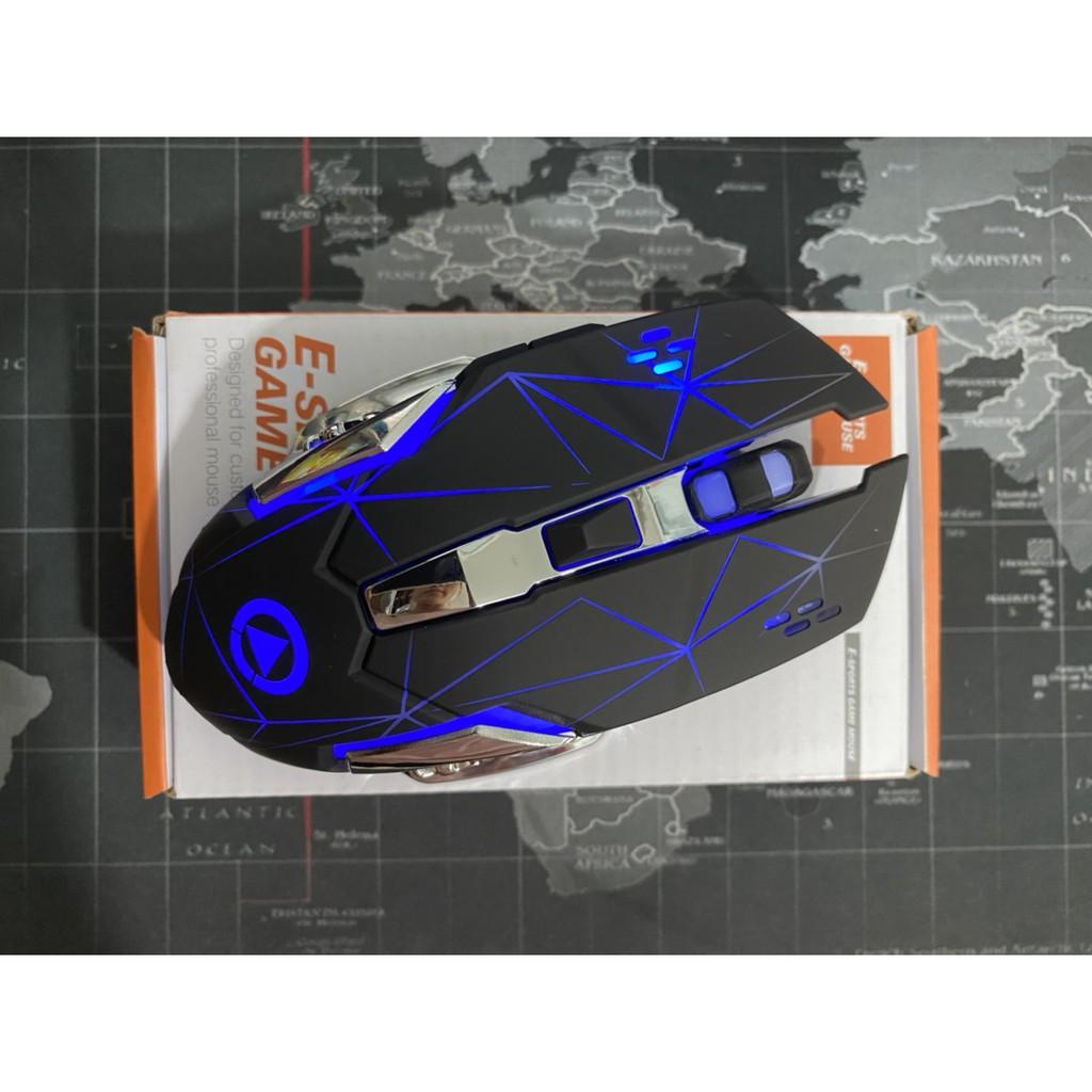 Chuột không dây chuyên game pin sạc yindiao A4 Led 7 màu