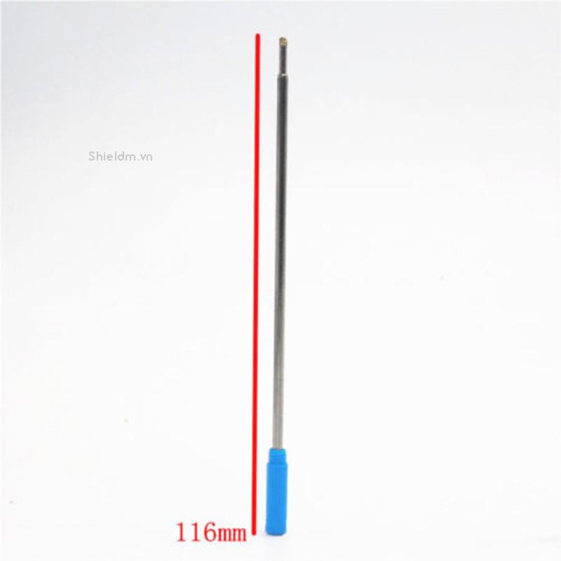 10 ruột bút bi thay thế màu đen xanh dương