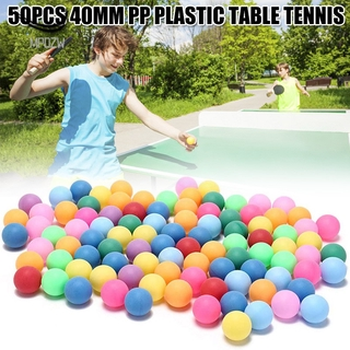 MPDZW 40mm Table Tennis Balls 2.4g Random Colours 50pcs for Games Outdoor Sport