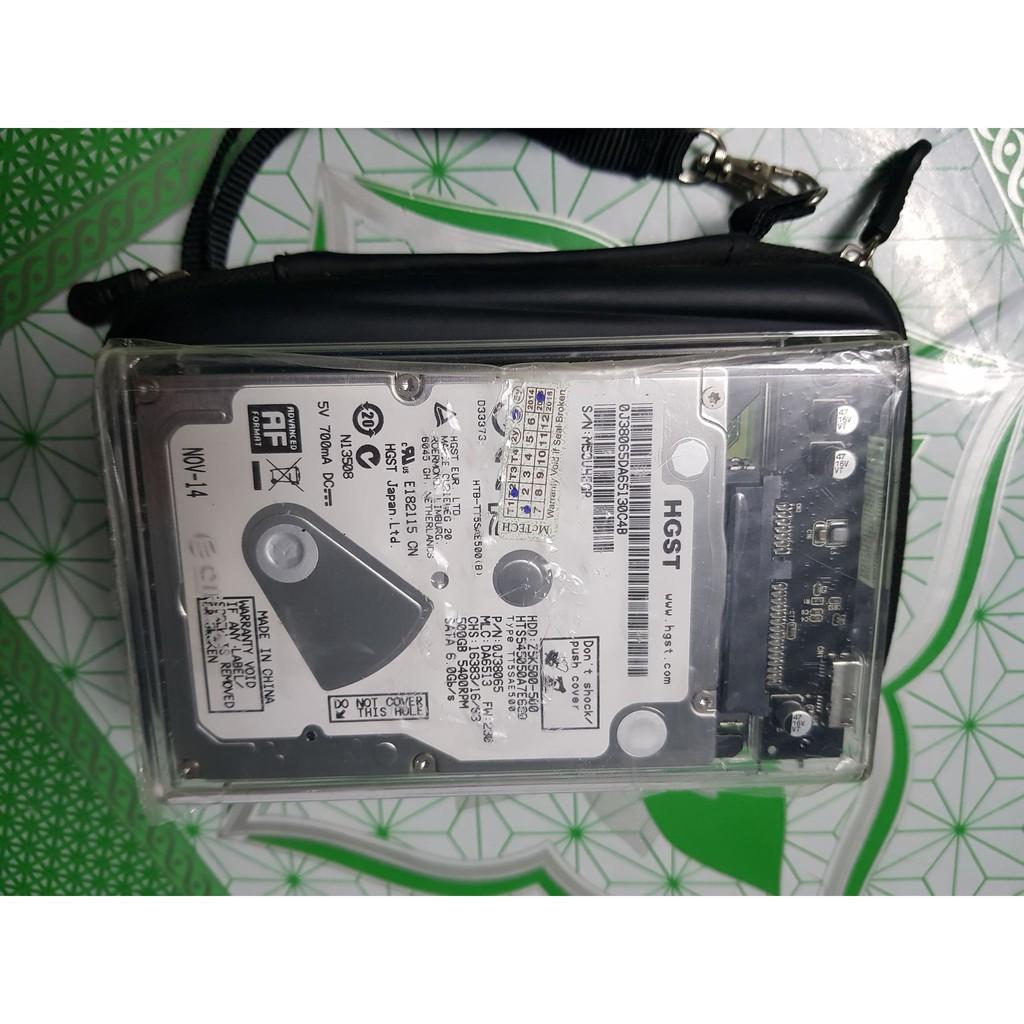 Ổ cứng laptop hdd 500gb 5400rpm + Hdd box + túi chống sốc Giá chỉ 400.000₫