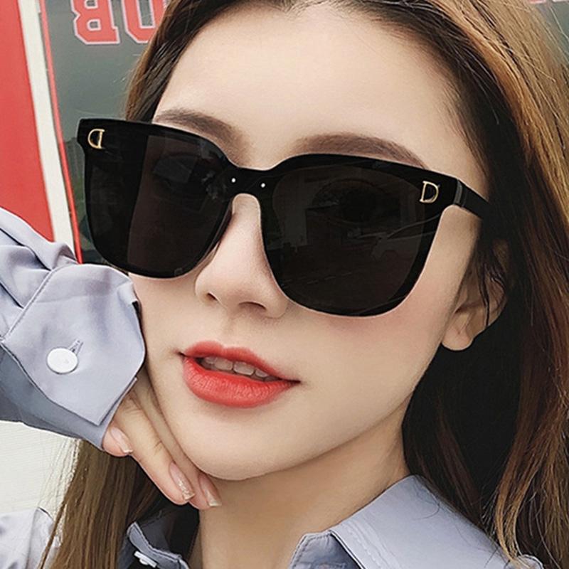 Kính Râm Gọng Vuông Kiểu Mắt Mèo Thời Trang Hàn Quốc Cổ Điển Bảo Vệ Chống Tia UV Dành Cho Nữ