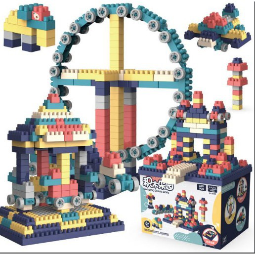 Bộ lego lắp ráp 520 chi tiết - Đồ chơi lắp ghép phát triển trẻ trí tuệ