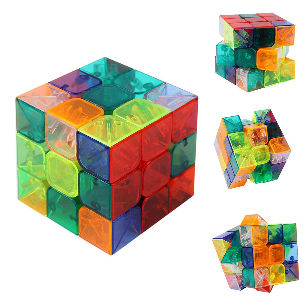 New Colorful Transparent Magic Ultra-smooth Professional Speed Cube Puzzle Twist Kids Educational Toys Gifts