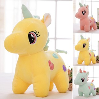 Funny Cute Colorful Little Plush Animal Horse Children Kid Toy Birthday Gift