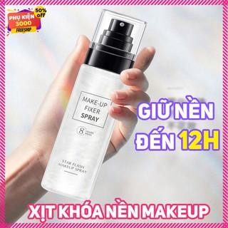 Xịt khóa nền trang điểm make up phủ lên lớp khóa chặt sau khi bạ đã trang điểm giúp nổi bật tone da ,không trôi makeup