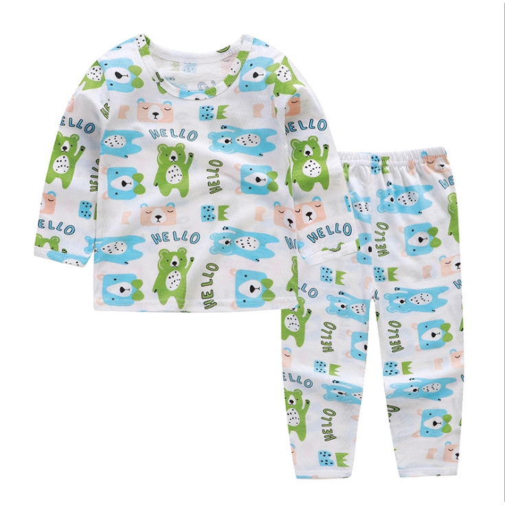 Bộ quần áo trẻ em cotton dài tay điều hòa khuy vai QATE299 cho bé sơ sinh đến 14kg