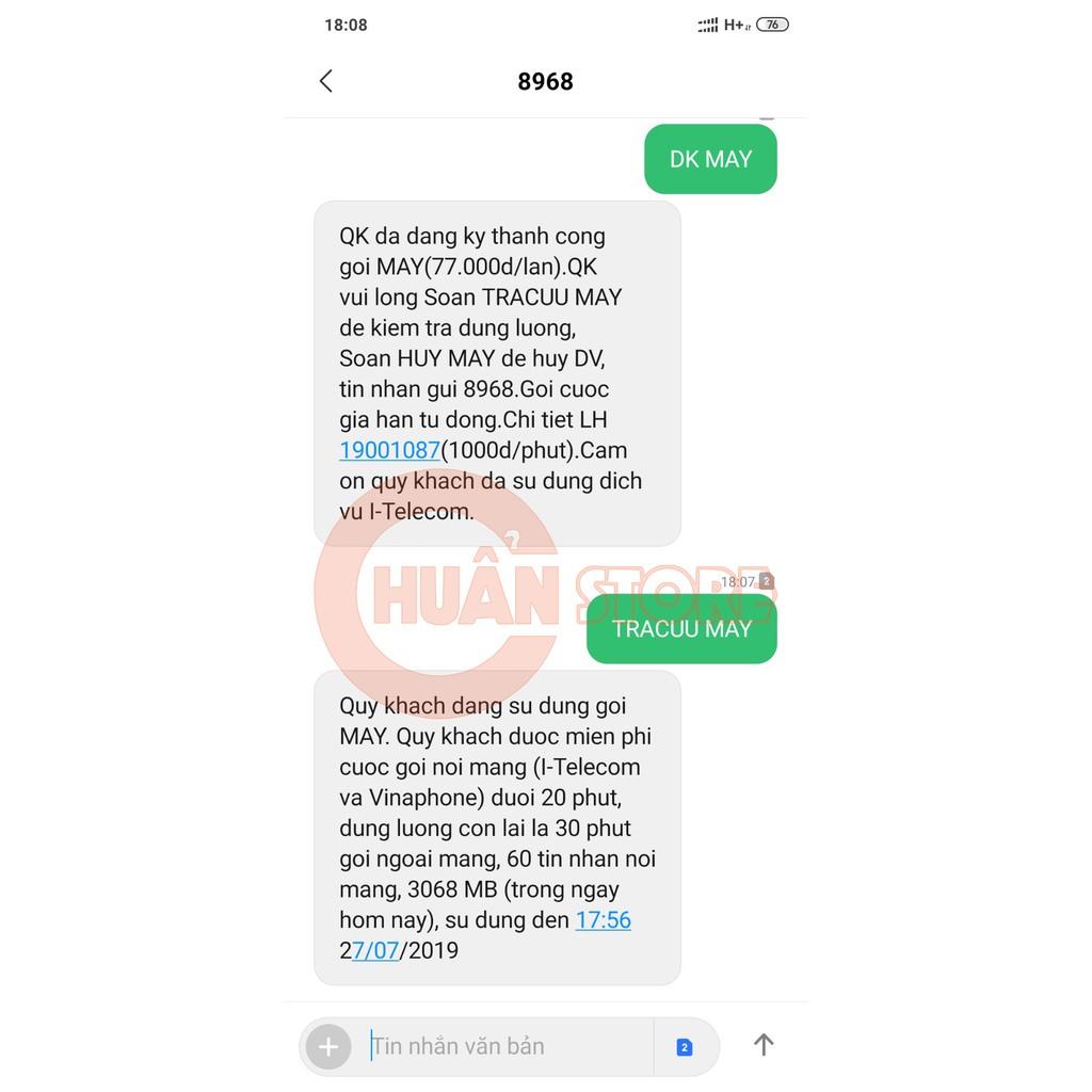 Hình ảnh SIM 4G I-Telecom gói cước MAY tặng 90GB DATA, miễn phí nghe gọi, miễn phí SMS-1