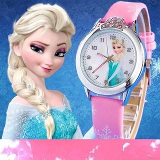 Đồng Hồ Đeo Tay Nữ, Dây Giả Da, Mặt In Hình Aisha Frozen
