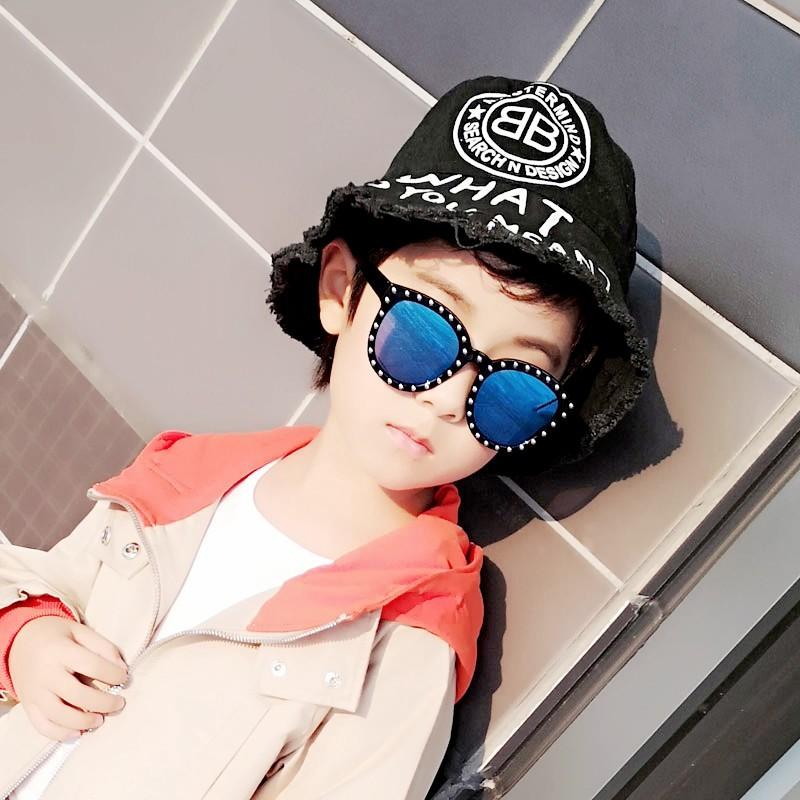 🔥แว่นตาเด็ก แว่นกันแดดเด็ก แว่นแฟชั่นเด็ก ใส่เท่ห์ๆ ถ่ายรูปKids Baby Sunglasses Punk UV400 Girl & Boys Riveted Style