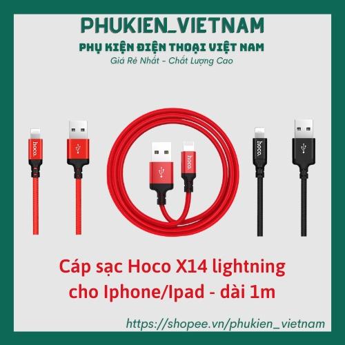 Cáp Sạc Lightning Hoco X14 Chính Hãng Cho Điện Thoại Pin Dự Phòng Tai nghe Bluetooth Case pro i12 Vỏ Ốp lưng