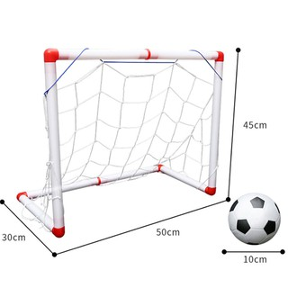 Indoor Folding Football Soccer Ball Goal Post Net Set Kids Sport Outdoor Toys