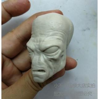 "1/6 Unpainted Head Carving Cad Bane Male Head Sculpt F 12"" Figure Body Model"