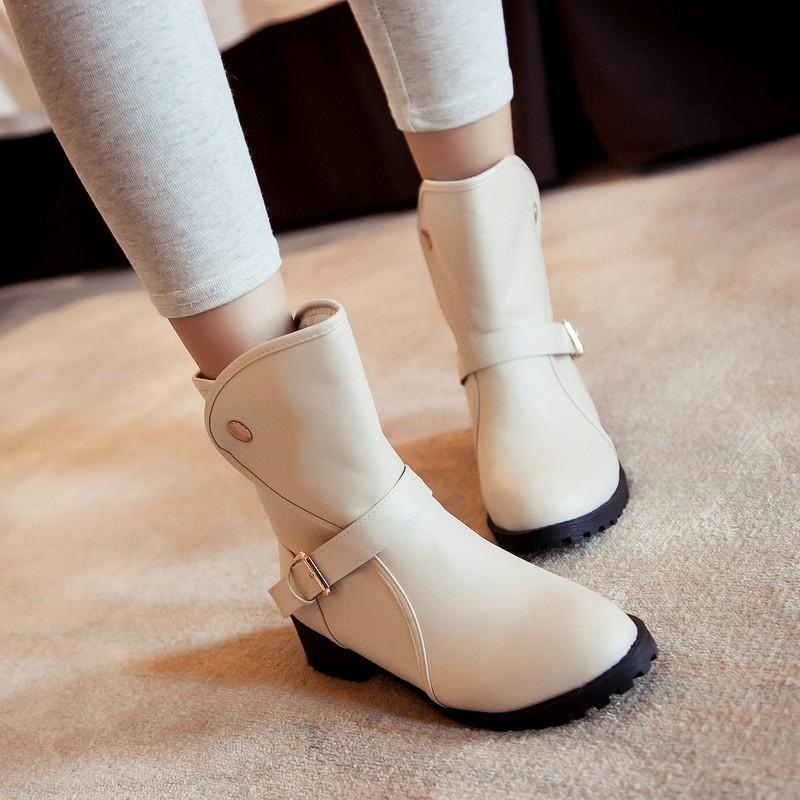 giày bốt phối đinh tán cho nữ