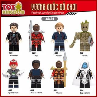 Mô Hình 8 Nhân Vật Non-LEGO Người Sắt, Người Nhện Cuộc Chiến Vô Cực