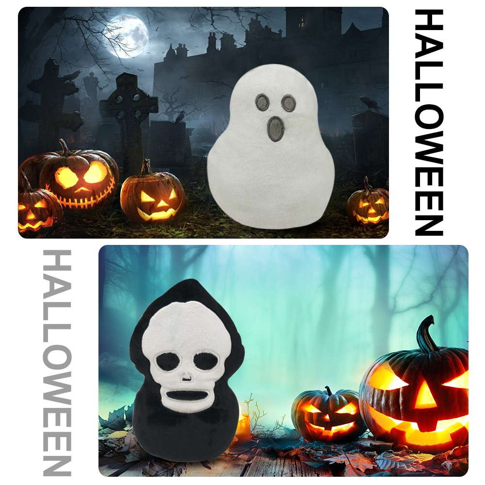 Ghost Doll Double-sided Flip Halloween Ghost Plush Doll Halloween Decor Kid Toy Gift