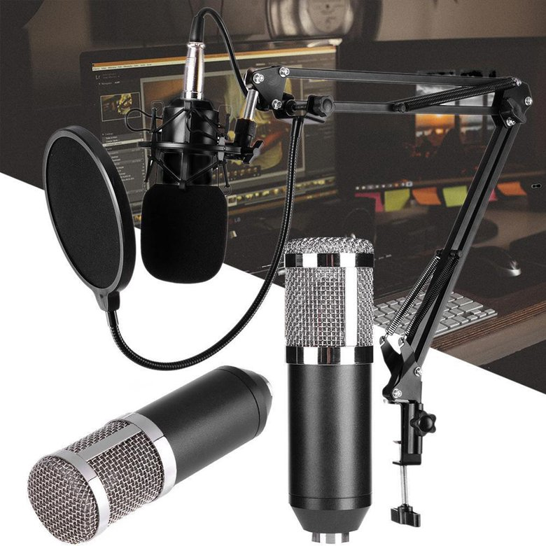 PK BM800 Dynamic Condenser Microphone Sound Studio KTV Singing Recording Mic
