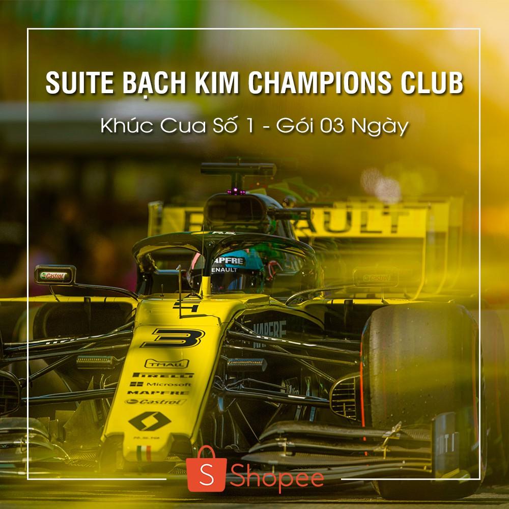 [E-Voucher] 01 Vé Suite Bạch Kim Champions Club - Khúc Cua Số 1 - Gói 03 ngày - F1 Vietnam Grand Prix [Hà Nội]