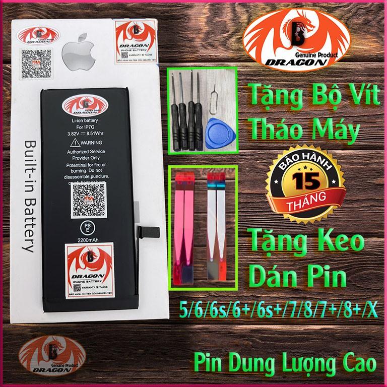 Pin iphone Dung Lượng Cao - B-Dragon - 5 6 6s 6p 7 7p 8 8p X Xmax - Pin...