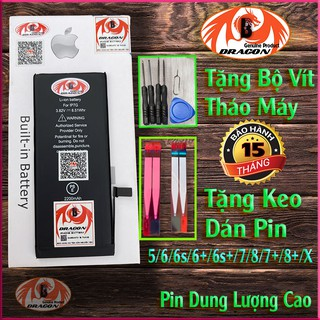 Pin iphone Dung Lượng Cao – B-Dragon – 5 6 6s 6p 7 7p 8 8p X Xmax – Pin Siêu Trâu cho iphone
