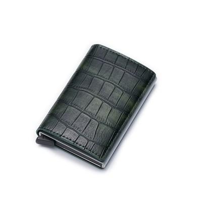 Ví Đựng Thẻ Card Nam Nữ Bỏ Atm,GPLX Ví Cầm Tay Mini Đựng tiền Vân Cá Sấu Cao Cấp Nhỏ Gọn Có Kèm Hộp - B21 Shoemaker