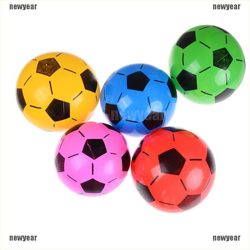 [new] 1PC Inflatable PVC Football Soccer Ball Kids Children Beach Pool Sports Ball Toy [year]