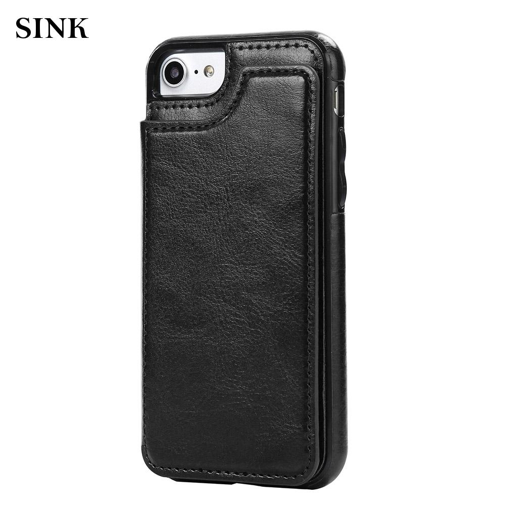 Protection Cover Magnetic Card PU + TPU Rear Case Wallet Case iPhone 6/6 Hot