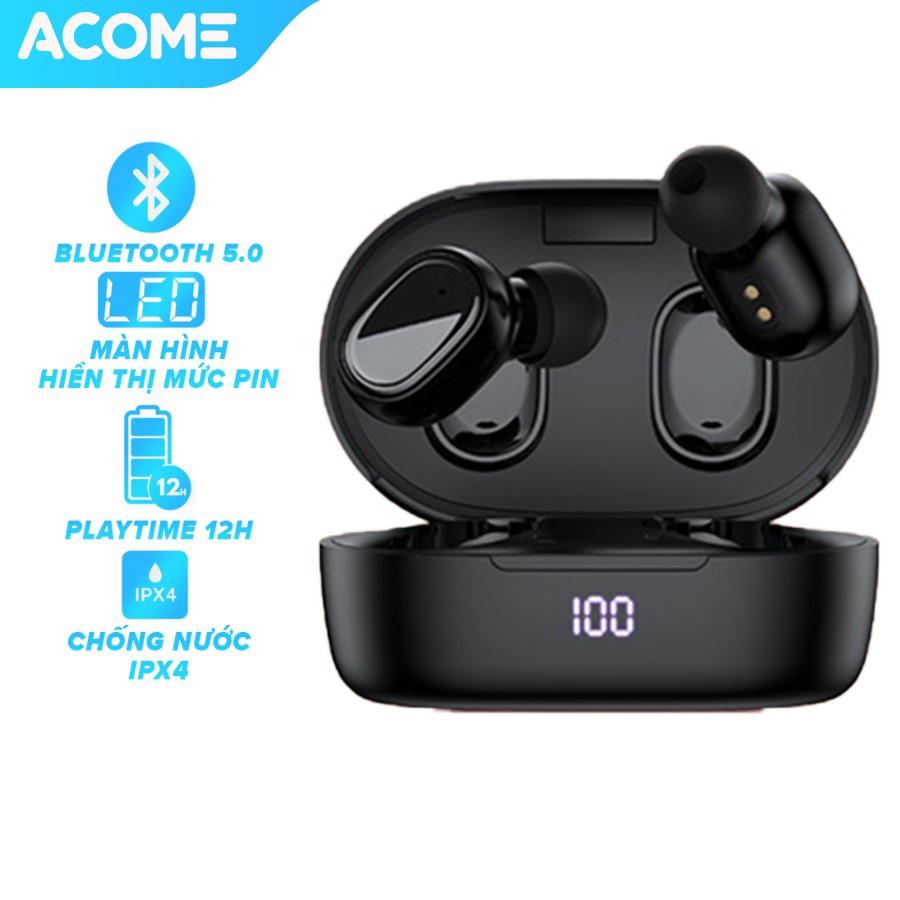 Tai Nghe Không Dây ACOME Airdots T1 Bluetooth 5.0 Màn Hình LED Play Time Lên Đến 12h - Âm Thanh Sắc Nét - BH 12 THÁNG
