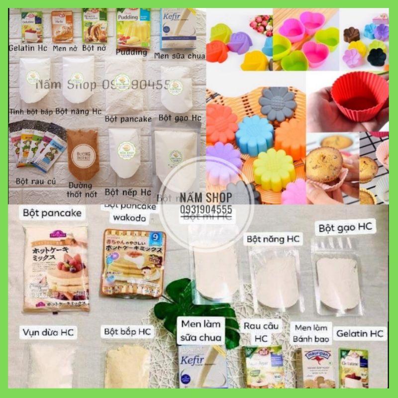 Bột hữu cơ làm bánh cho bé/bột mì/bột bắp/vụn dừa/bột năng/bột gạo