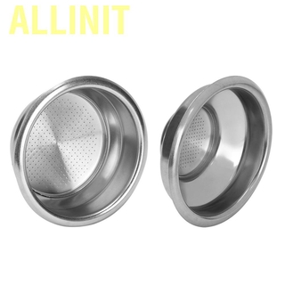 Allinit 58mm Double Layers Single/Double Doses Filter Basket Semi-Automatic Coffee Machine Bottomless Handle