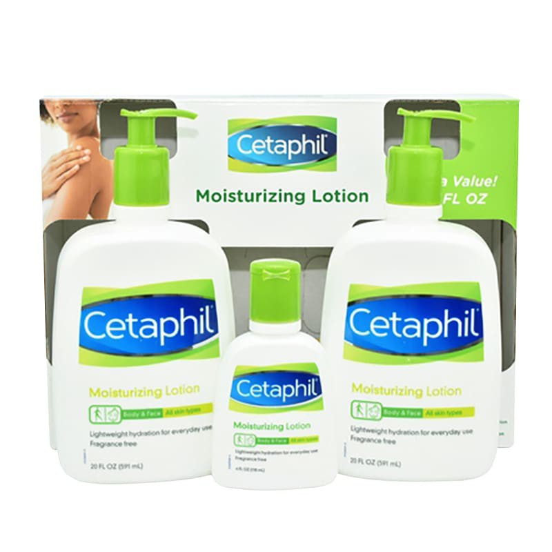 Sữa dưỡng thể Cetaphil - Set 3 chai sữa dưỡng thể Cetaphil Moisturizing Lotion