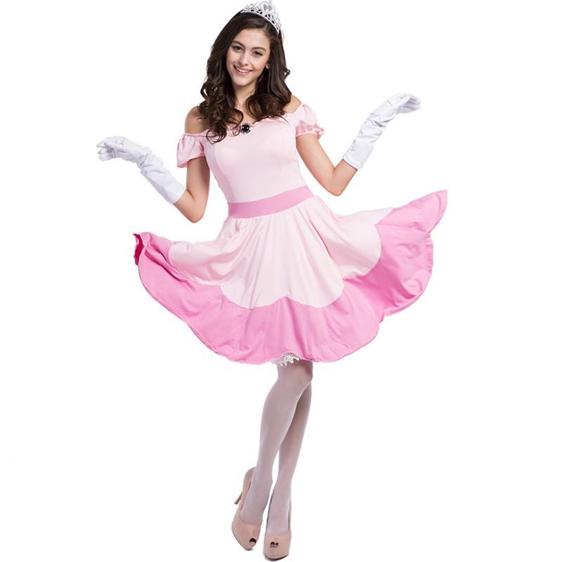 เครื่องแต่งกายคอสเพลย์เจ้าหญิง fairy tale สีชมพู