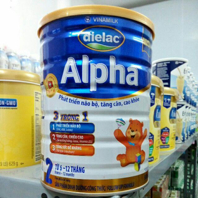 Sữa Dielac Alpha 2 900g(6-12 tháng)chính hãng,date mới