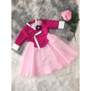 Đầm Hanbok cho bé yêu