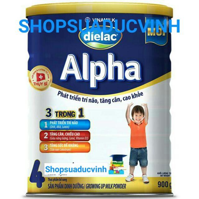 Sữa bột Vinamilk Dielac Alpha 4 900g date 2019