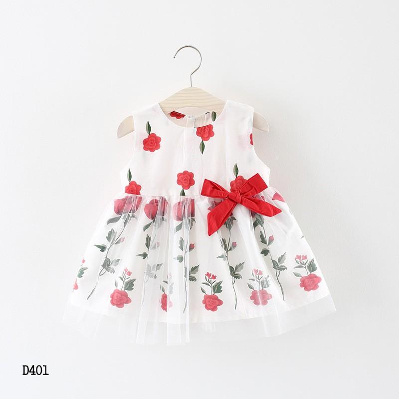 Váy hoa bé gái 8-14kg hàng Quảng Châu D401