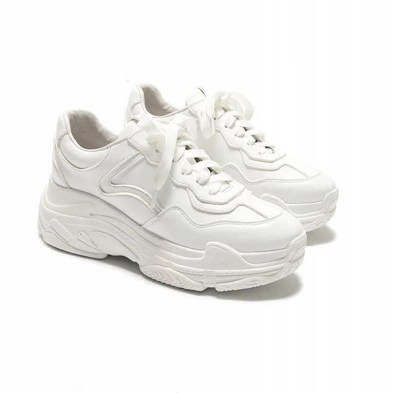 Giày thể thao nữ viền số 7 - màu trắng, chất da mềm, độn đế, thời trang hàn quốc đẹp, giá rẻ, đi học đi,chơi hot 2020