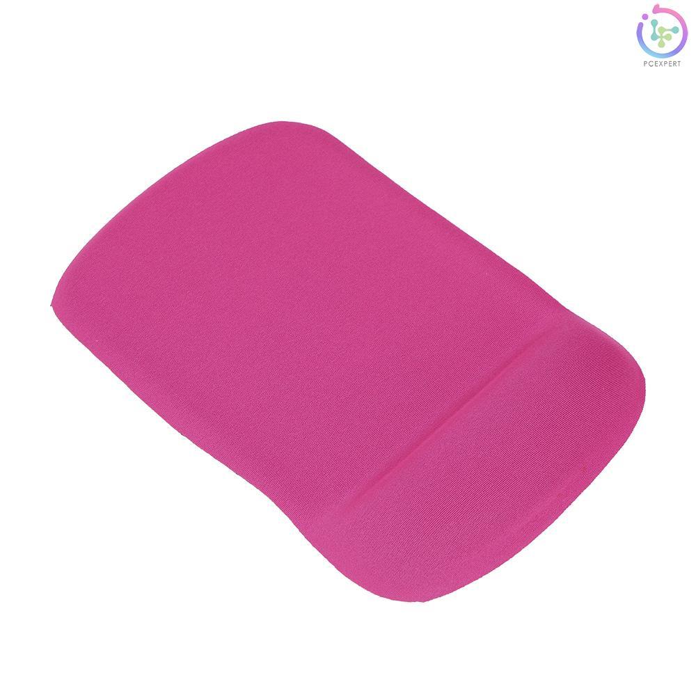 Silicone Tấm Lót Chuột Silicon Gel Mềm Có Đệm Kê Cổ Tay Thoải Mái Màu Đỏ Hồng Cho Pc Laptop