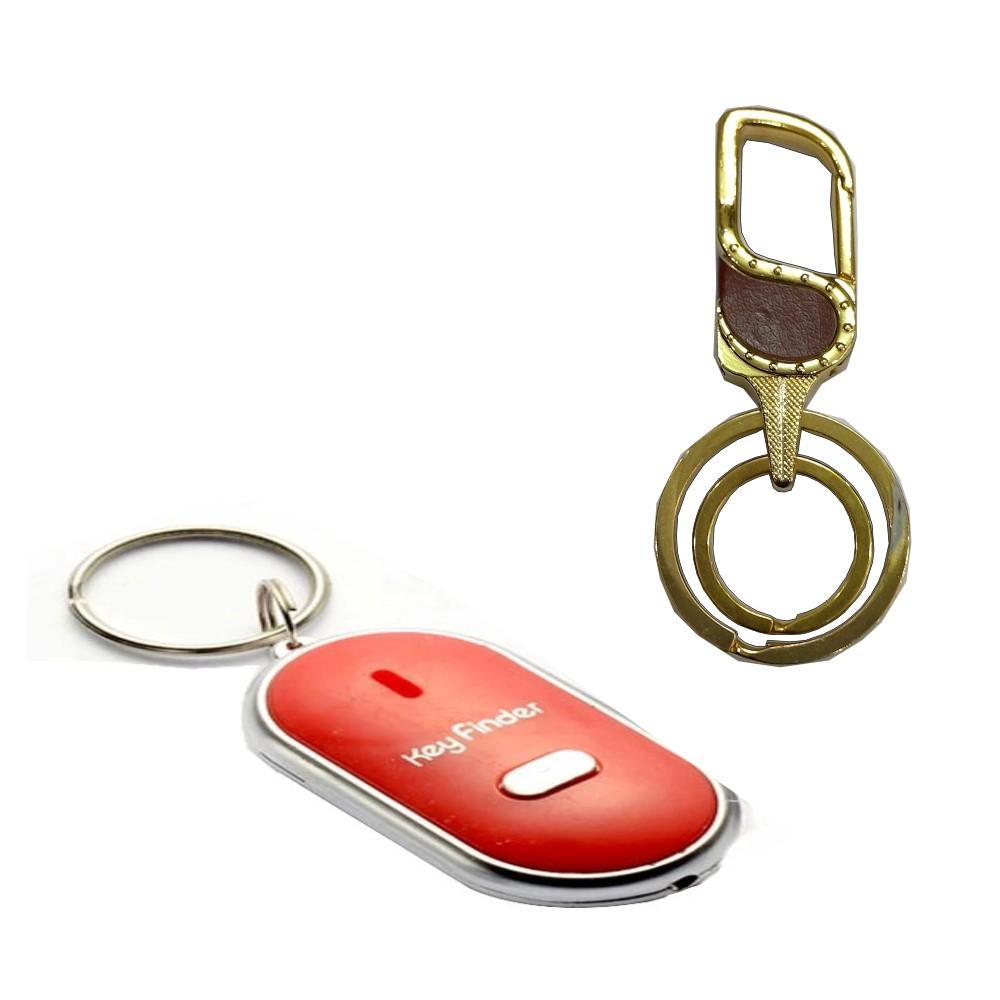 Bộ móc khóa cao cấp + móc khóa huýt sáo thông minh dễ dàng tìm thấy chìa khóa của bạn